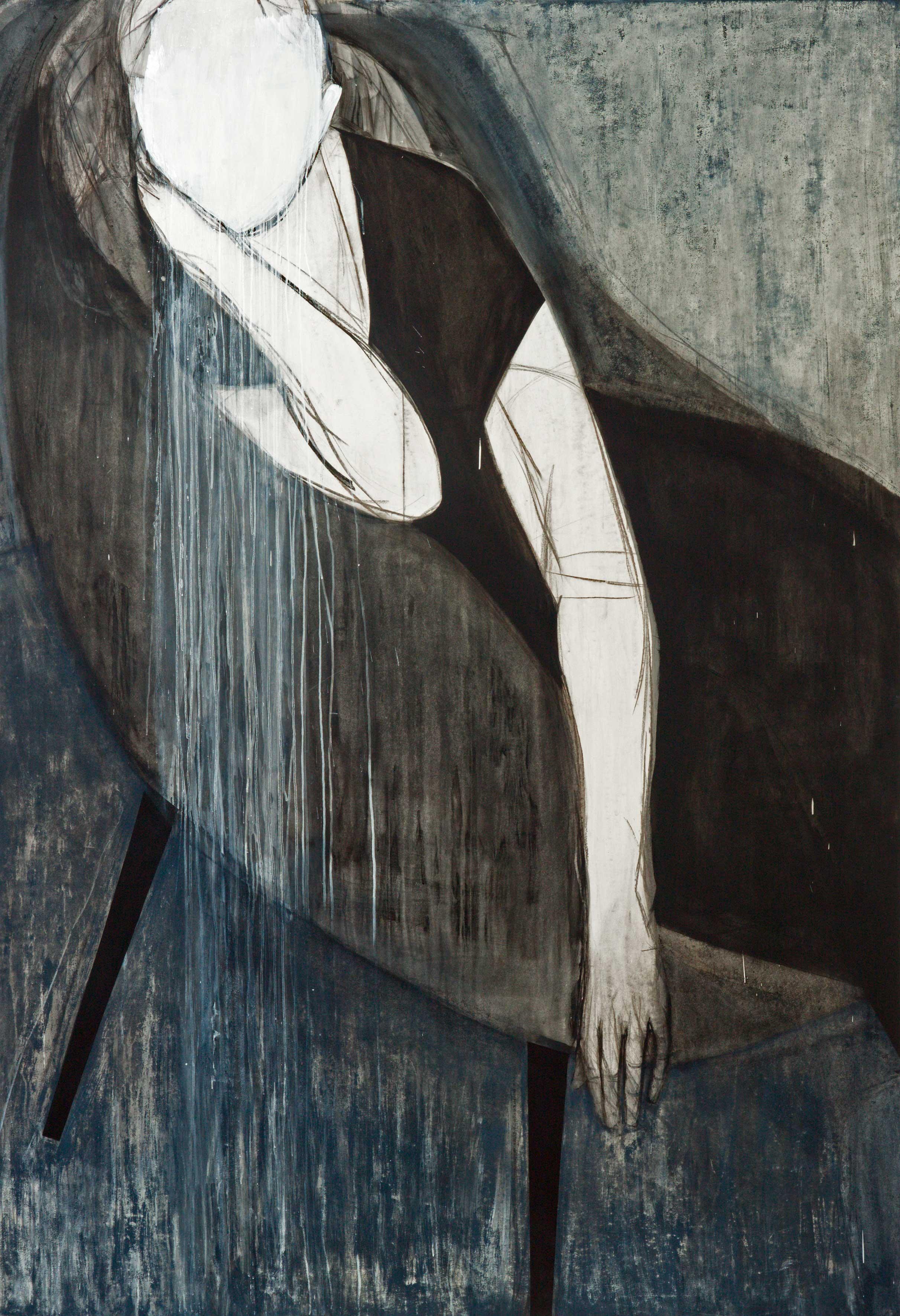 Iris Schomaker – Sitting / listening (grey chair), 2011