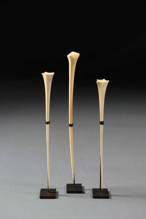 Tres Agujas del pelo - Cultura mangbetu, (R.D. Congo)